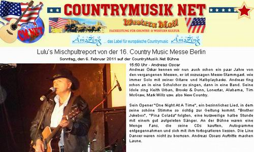 knapp ein jahr countrymusik